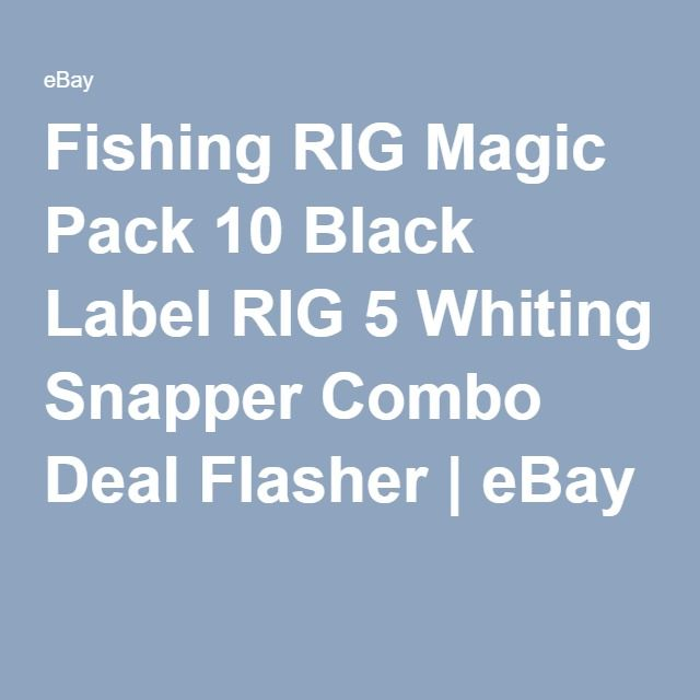 Fishing RIG Magic Pack 10 Black Label RIG 5 Whiting Snapper Combo Deal Flasher | eBay