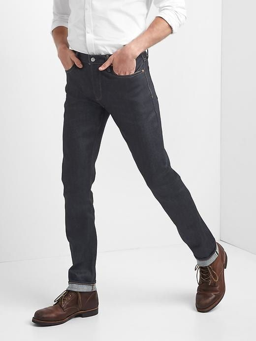 Mens dark, clean denim - always a good choice!