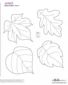 Molde para hacer hojas de otoño de fieltro (2)