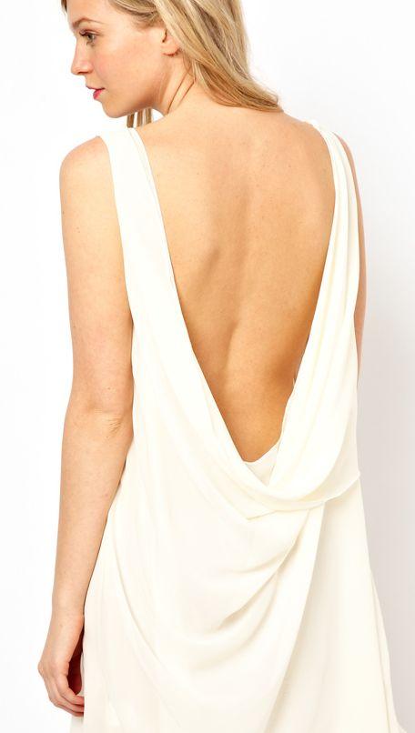 Nice Robe Fluide Dos Nu #4: La Robe Du Dimanche: Robe Blanche Dos Nu