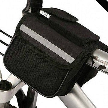 Win Win Deals! - Ride Free With Velcro Bike Storage Bag! Take your phone, keys and wallet with you when riding!