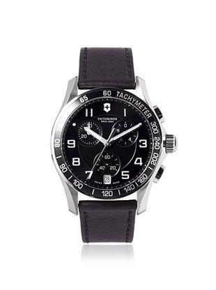 34% OFF Victorinox Swiss Army Men's 241493 Chrono Classic Black/Black Leather Watch