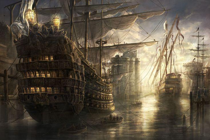 「ヤルタの夕日」1861 イヴァン・アイヴァゾフスキー http://free-paintings.gatag.net/2012/10/30/08000...