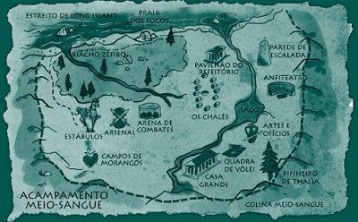 Livros On-line: Mapa do Acampamento-Meio-Sangue