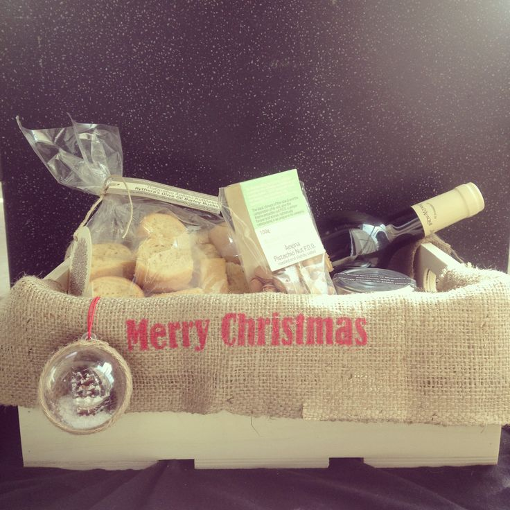 Wine basket #greek #christmas #gift # packaging