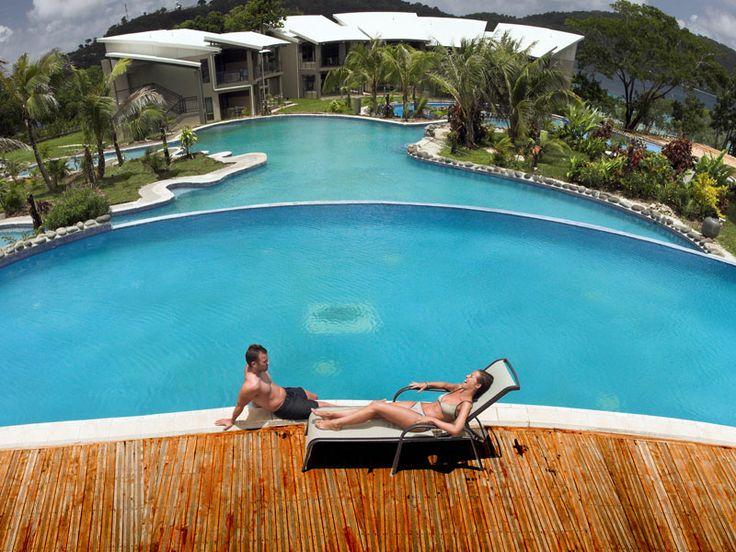 Poolside at Iririki Island Resort, Vanuatu  www.islandescapes.com.au