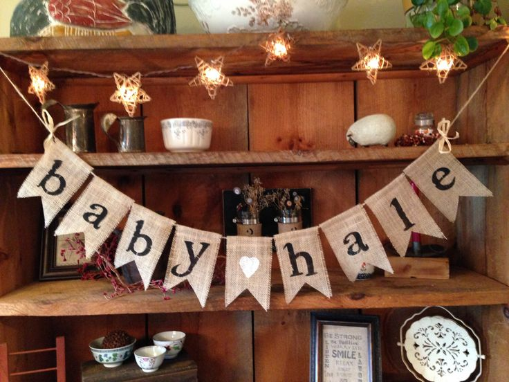 A personal favorite from my Etsy shop https://www.etsy.com/listing/206559903/burlap-baby-bunting-burlap-banner-baby