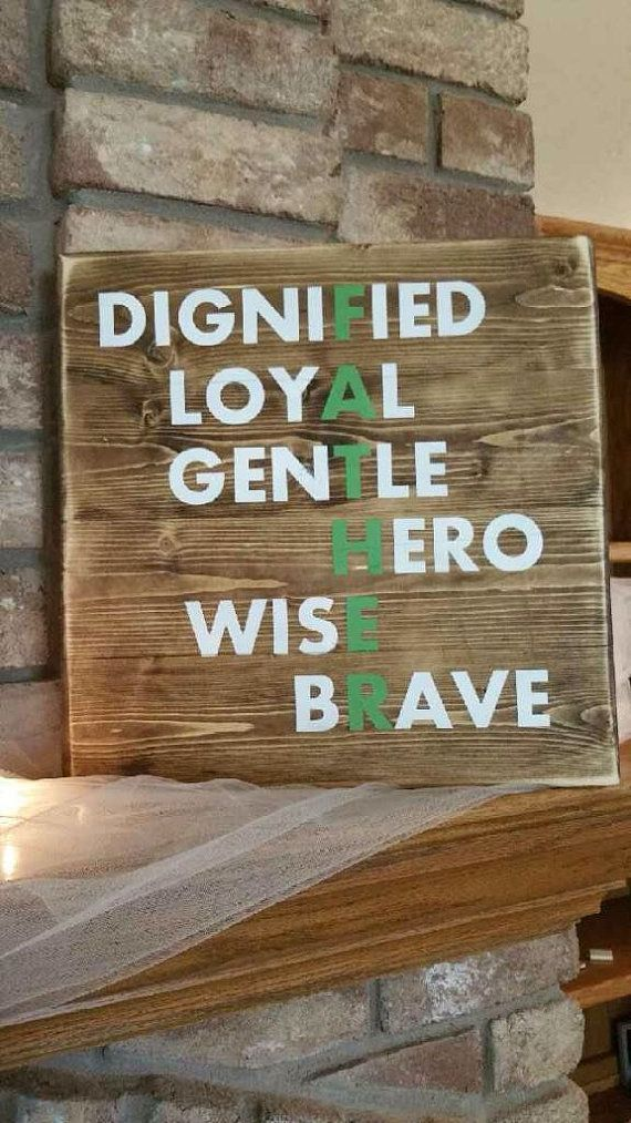 Father S Day Wood Sign Dad Rustic Wood Sign Father S Day Gift