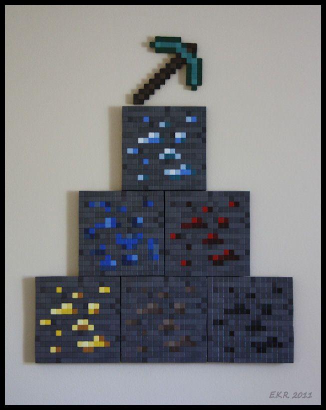 Minecraft Wall Sculpture by *Ebonsong on deviantART