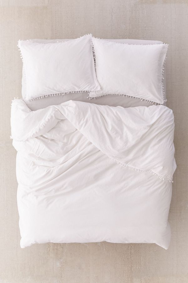 Washed Cotton Tassel Duvet Cover In 2021 Duvet Covers Duvet Duvet Covers Bohemian