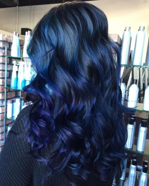 Best 25 blue hair highlights ideas on pinterest colored 20 dark blue hairstyles that will brighten up your look pmusecretfo Image collections