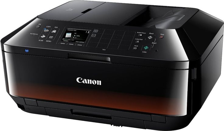 Canon Pixma MX725 A4 Printer, Scanner, Copier, WIFI, AirPrint, 250 Sheet Tray. A premium 5-ink wireless All-In-One featuring Ethernet, mobile and cloud connectivity plus a 35 sheet 2-sided ADF for highly productive printing, scanning, copying and faxing at home or in the office. Productive 250-sheet paper cassette and 2-sided 35 sheet ADF Easily share around the office with Wi-Fi and Ethernet connectivity