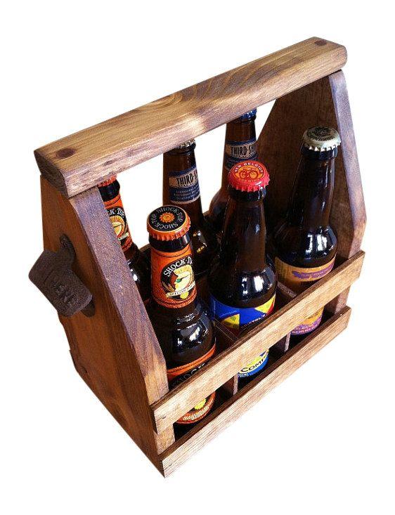 Beer Tote SHIPS in 1 DAY Handmade Beer by GreatLakesReclaimed