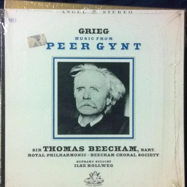 Grieg's score for Ibsen's Peer Gynt. Vinyl, Angel Records. 1957