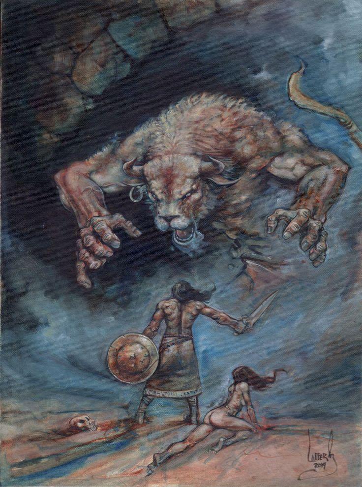 Frazetta inspired, Dark Fantasy Art, Oil Painting By Jeff ...