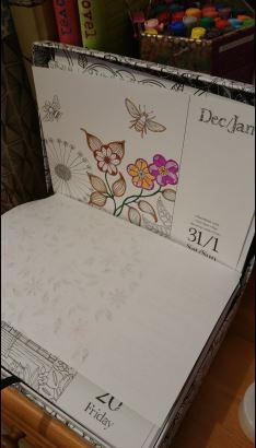 Chatting about this fab Johanna basford Calendar designed with a colouring page every day of this year from three of her books. See the blog whimsyandcosy #colouring#coloring #art #Johanna basford