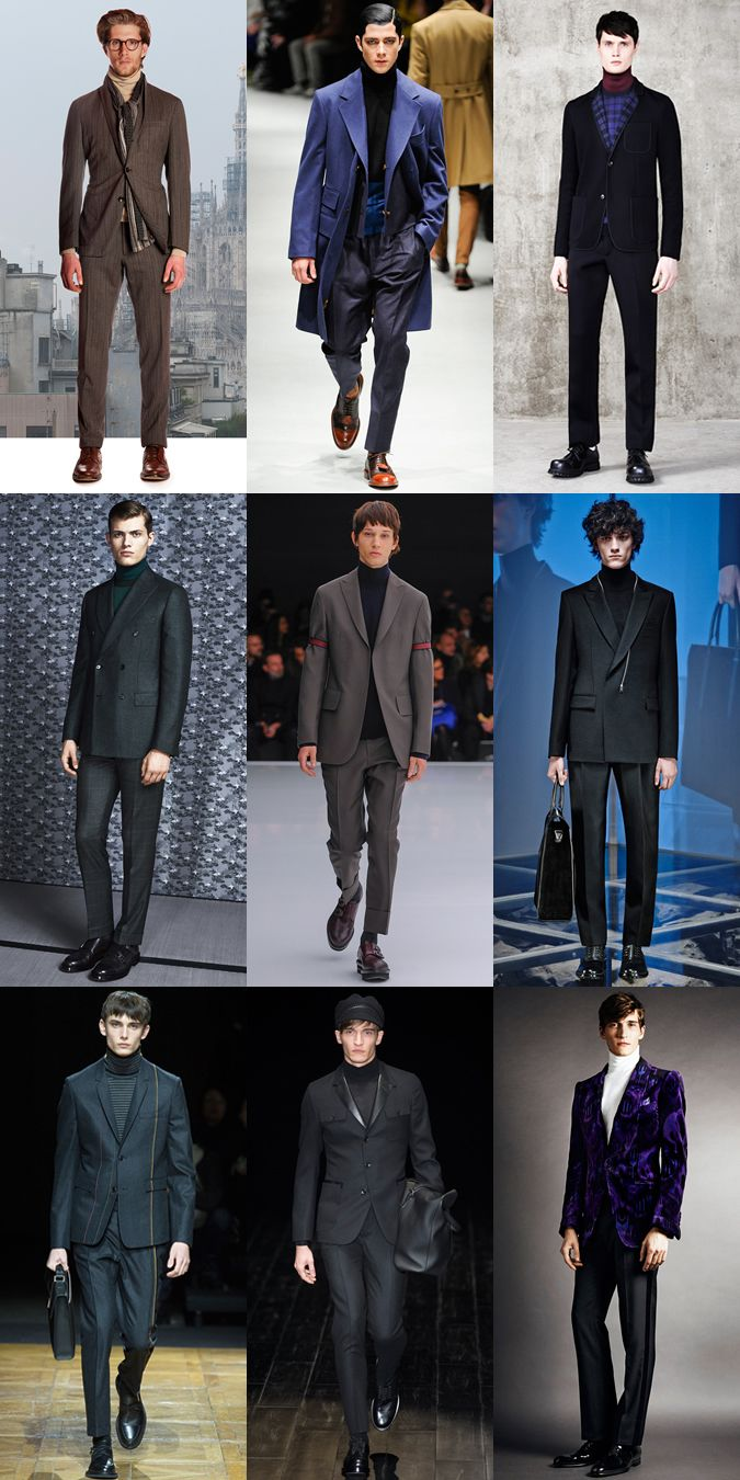 Ways To Wear Men's 2014 Autumn/Winter Roll Neck Trend: Tie Replacement Lookbook Inspiraion
