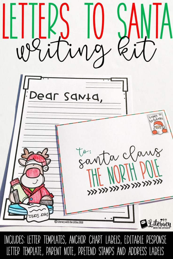 Write a Friendly Letter {Letters to Santa and Editable