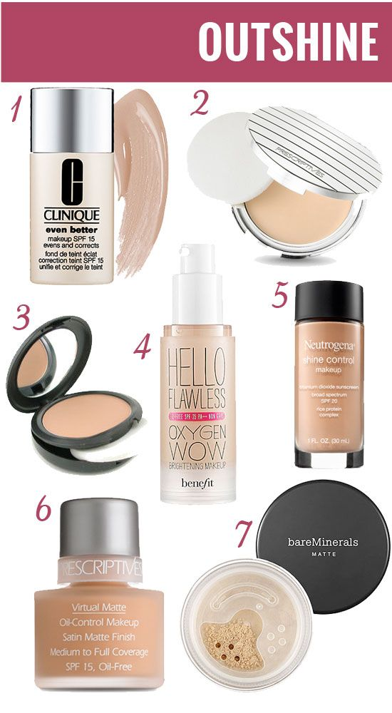 Foundations for Oily Skin.