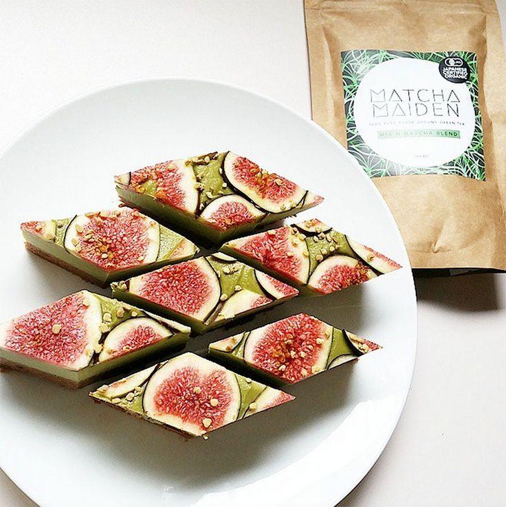 Matcha Green Tea & Fig Raw Vegan Slice - The Whole Daily