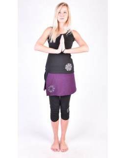 Černé tříčtvrteční kalhoty se sukní na jógu z bio bavlny 53140fcf10