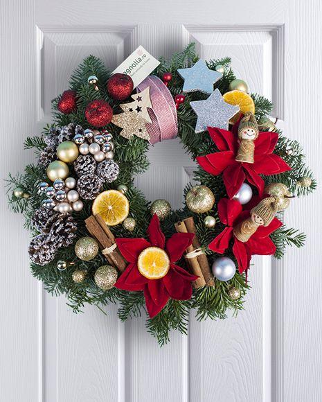 Coronita de Craciun pentru usa. Christmas door wreath.