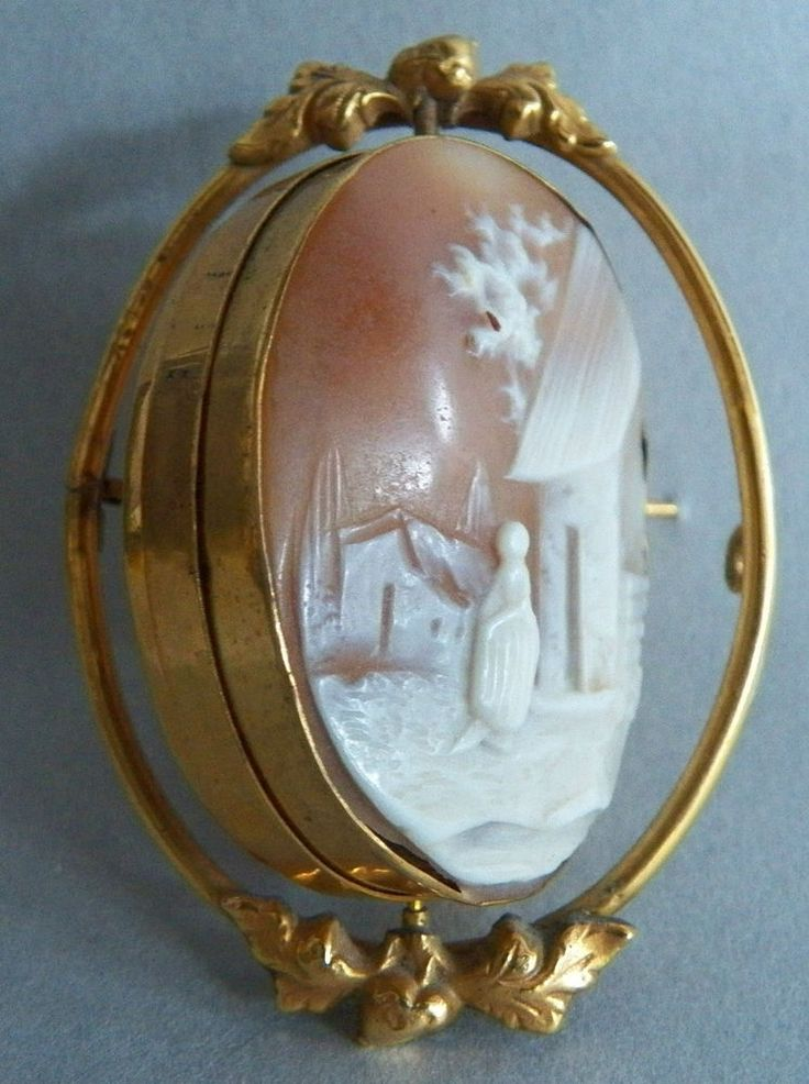 508 best schmuck cameo images on pinterest vintage jewelry antique victorian vntg10k goldrotating carved shell cameohair receiver brooch mozeypictures Choice Image