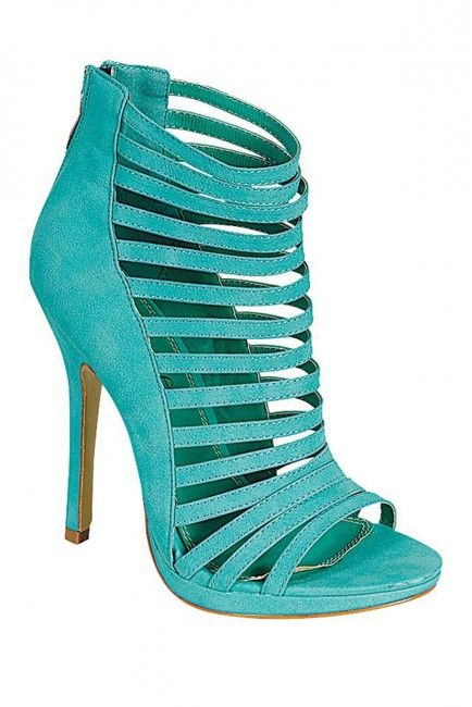 Turquoise Ladies High Hill Shoes