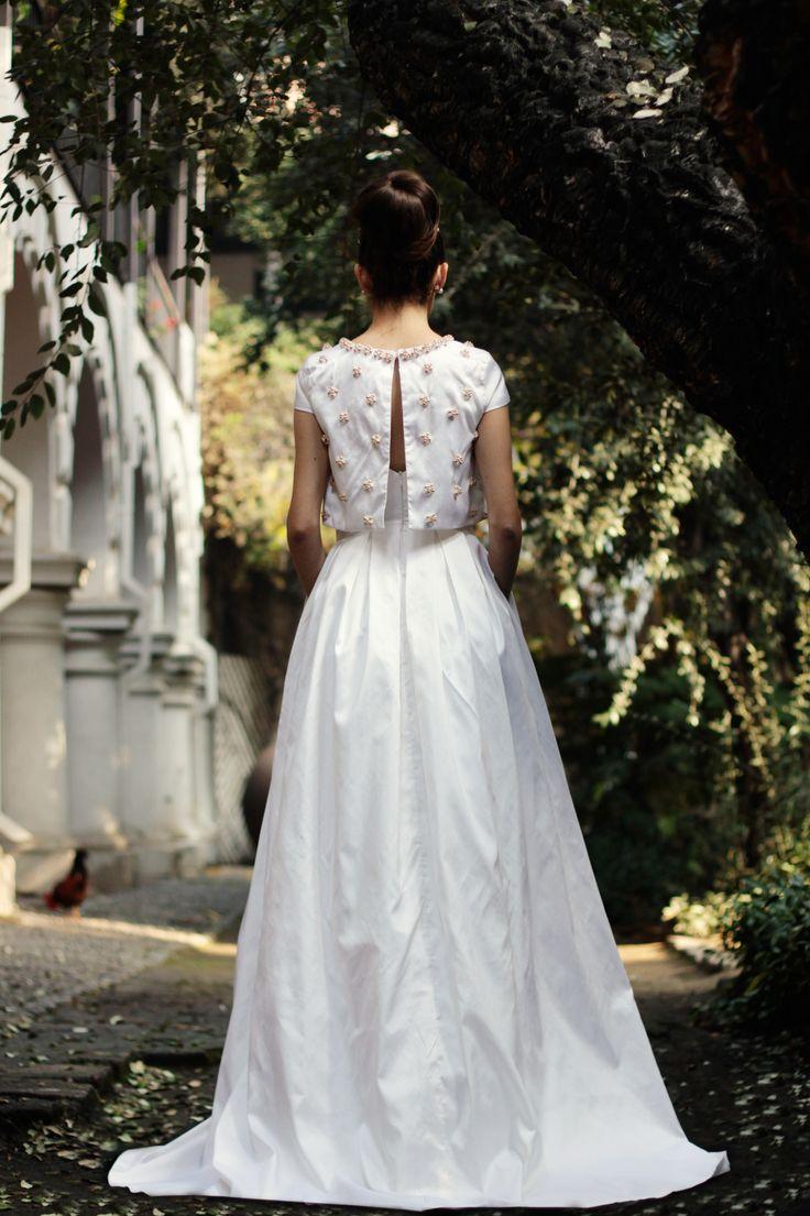 vestido de novia, pedreria, seda