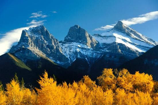 3 Sisters Mountains, Canmore, Alberta   Places   Mountain ...