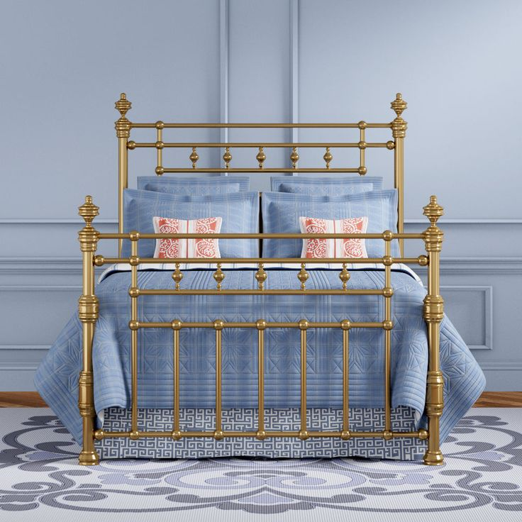 11 best Brass, nickel and chrome beds images on Pinterest | Bedding ...