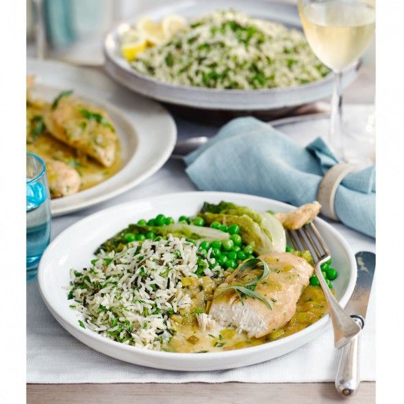Tarragon chicken fricassee is a classic French one pot - not quite a stew, it's a wonderful dish for entertaining.