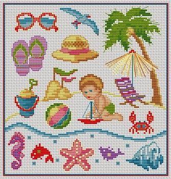 Χειροτεχνήματα: Kαλοκαιρινά σχέδια για κέντημα / Summer cross stitch patterns