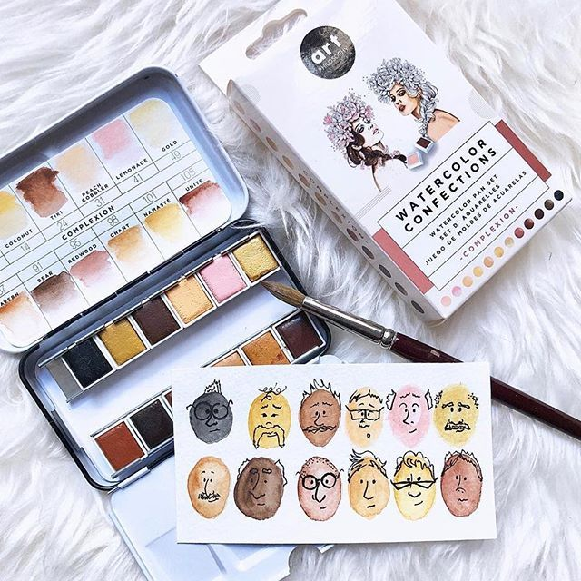 Repost Thisismyartgig Finally A Complexion Palette For