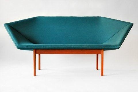 Prisma sofa designed in 1963 by Danish designers Tove & Edward Kindt-Larsen | #Design / #Furniture / #Chair