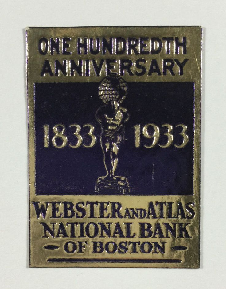 Poster Stamp - Webster & Atlas National Bank of Boston 100th Anniversary , 1933   Stamps, Specialty Philately, Cinderellas   eBay!