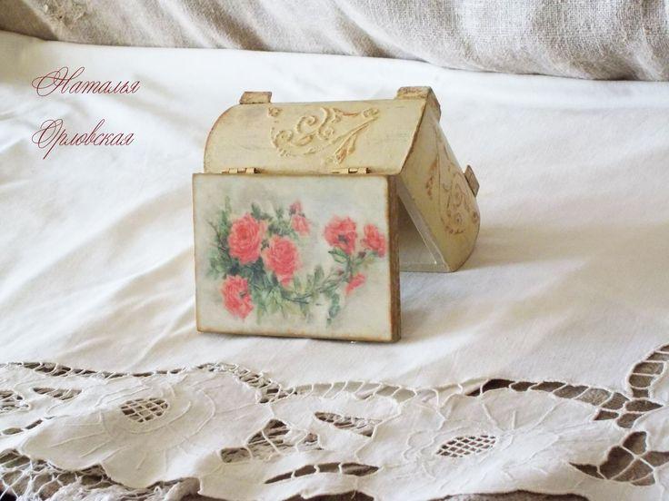 """Шкатулка """"Чайные розы"""""""