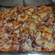 Fotografie receptu: Zapečená růžičková kapusta s rajčaty