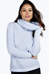 Erin Cowl Neck Soft Knit Jumper from #Boohoo on discounted price. Use promotional Codes and coupon Codes.