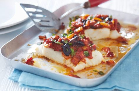 Be sure to impress your dinner guests with this Mediterranean baked cod with a tangy topping. Find this recipe and hundreds of other recipes at Tesco Real Food today!