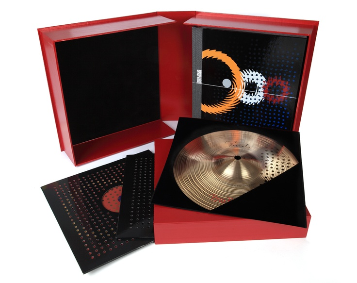 """The Deluxe Edition of the Foruli signed limited edition of 'Bill Bruford: The Autobiography'. Includes a custom 10"""" cymbal by Paiste with Foruli, an exclusive 10"""" black vinyl double album and an art print, all contained in a custom solander case. Only 25 copies. Design by Andy Vella."""