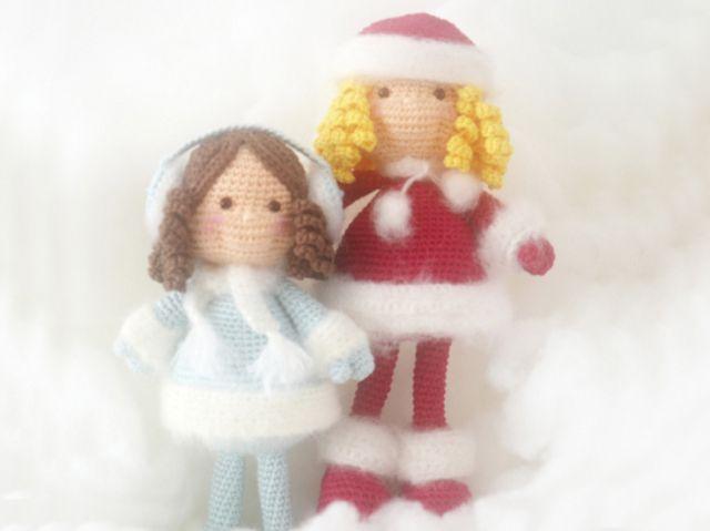 Зимняя кукла амигуруми Схема