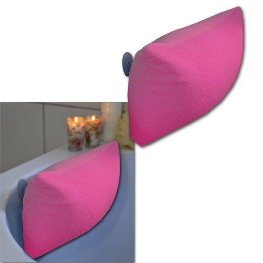 Badewannenkissen Badekissen Wannenkissen Kissen Nacken Badewannen Relax Bad (Pink)