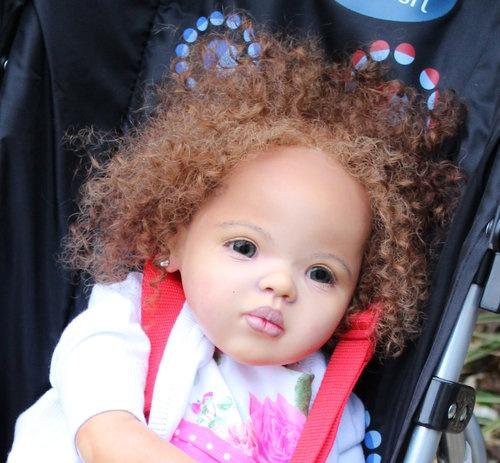custom order for black aa toddler baby reborn girl ethnic biracial do