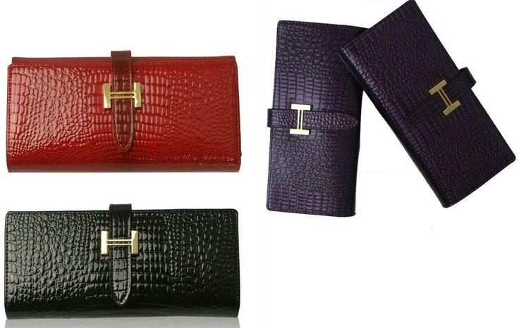 New Arrival Women Crocodile Long Wallet Genuine Leather Ladies Fashion Coin Purse Clutch Wallet