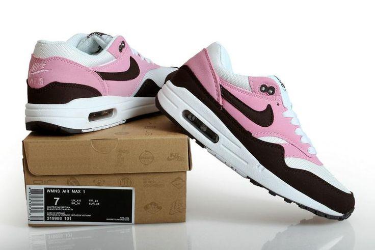 Nike Air Max 1 Damesschoen Wit Roze Zwart