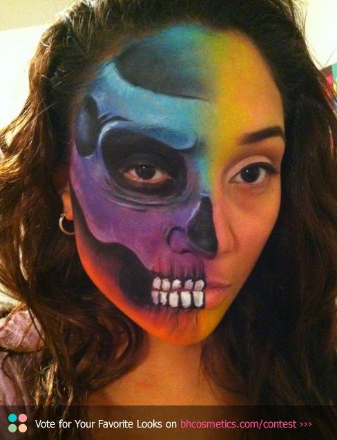 Skull Face Painting Ideas For Halloween