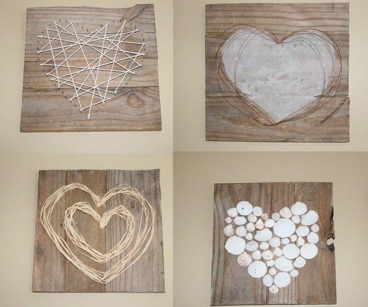 Rom nticos cuadros de madera para san valent n sorprende - Cuadros de parejas ...