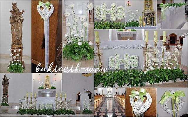 bukiecik-waw, florystyka ślubna i komunijna: Dekoracje komunijne kościołów