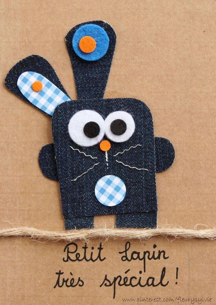 Petit lapin très spécial ! #jeans #recycle http://pinterest.com/fleurysylvie/mes-creas-la-collec/ et www.toutpetitrien.ch